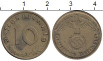 Изображение Монеты Германия Третий Рейх 10 пфеннигов 1937 Латунь XF