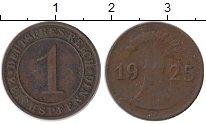 Изображение Монеты Веймарская республика 1 пфенниг 1925 Бронза XF