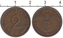 Изображение Монеты Третий Рейх 2 пфеннига 1938 Бронза XF