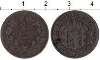 Изображение Монеты Люксембург 2 1/2 сантима 1854 Медь XF