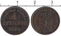 Изображение Монеты Германия Гессен-Дармштадт 1 пфенниг 1862 Медь XF