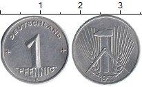 Изображение Монеты ГДР 1 пфенниг 1953 Алюминий UNC-