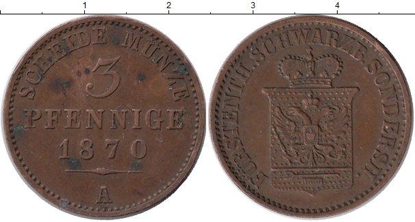 Картинка Монеты Пруссия 3 пфеннига Медь 1870