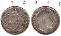 Изображение Монеты Индия 1/2 рупии 1906 Серебро XF