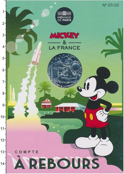 Изображение Монеты Франция 10 евро 2018 Серебро UNC Серия  монет  Микки