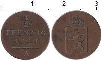 Изображение Монеты Рейсс-Шляйц 1/2 пфеннига 1841 Медь XF