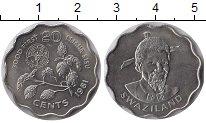 Изображение Монеты Свазиленд 20 центов 1981 Медно-никель UNC-