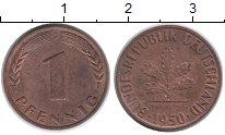 Изображение Монеты Германия ФРГ 1 пфенниг 1950 Медь XF
