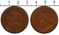Монета Австралия 1 пенни Бронза 1936 XF фото