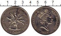 Монета Новая Зеландия 1 доллар Медно-никель 1989 UNC- фото