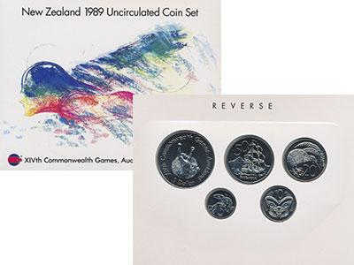 Изображение Подарочные монеты Новая Зеландия Набор 1989 года 1989  UNC Набор из четырёх мон