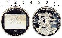 Монета Камбоджа 20 риель Серебро 1994 Proof- фото