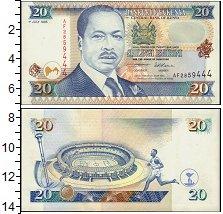 Изображение Банкноты Кения 20 шиллингов 1995  UNC