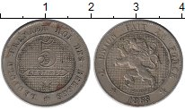 Изображение Монеты Бельгия 5 сантим 1863 Медно-никель XF