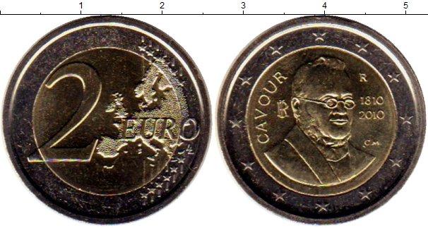 Картинка Монеты Италия 2 евро Биметалл 2010