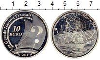 Монета Франция 10 евро Серебро 2014 Proof фото