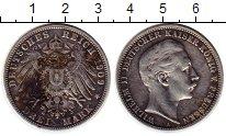 Изображение Монеты Германия Пруссия 3 марки 1909 Серебро XF-