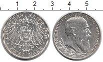 Изображение Монеты Германия Баден 2 марки 1902 Серебро UNC-
