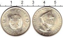 Изображение Монеты Филиппины 50 сентаво 1947 Серебро UNC-