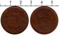 Изображение Монеты Дания 5 эре 1920 Бронза XF