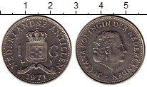 Изображение Монеты Нидерланды Антильские острова 1 гульден 1971 Медно-никель XF