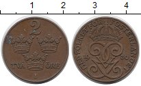 Изображение Монеты Швеция 2 эре 1930 Бронза XF