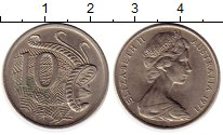 Изображение Монеты Австралия 10 центов 1971 Медно-никель UNC-