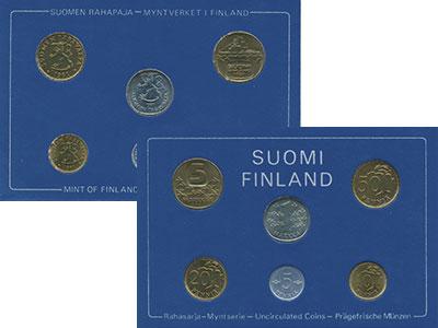 Изображение Подарочные монеты Финляндия Набор монет 1980 года 1980  UNC Годовой набор из шес