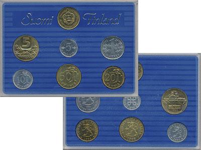 Изображение Подарочные монеты Финляндия Набор 1988 года 1988  UNC Годовой набор из шес