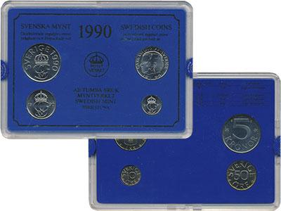 Изображение Подарочные монеты Швеция Набор монет 1990 года 1990  UNC Набор посвящён монет