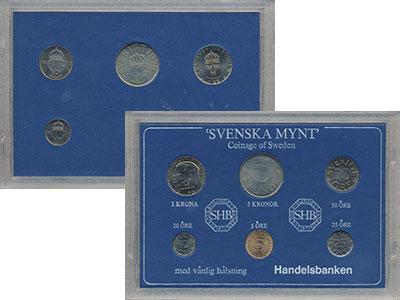 Изображение Подарочные монеты Швеция Набор монет 1981 года 1981  UNC- `В наборе 6 монет но