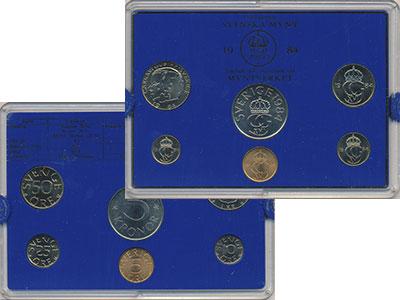 Изображение Подарочные монеты Швеция Набор монет 1984 года 1984  UNC `В наборе 6 монет но