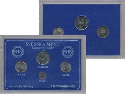 Изображение Подарочные монеты Швеция Набор монет 1985 года 1985  UNC Набор посвящён монет