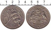Изображение Монеты Доминиканская республика 4 доллара 1970 Медно-никель UNC