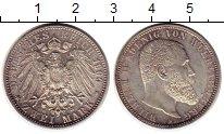 Изображение Монеты Германия Вюртемберг 2 марки 1906 Серебро UNC-