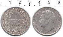 Изображение Монеты Германия Гессен-Дармштадт 1 гульден 1842 Серебро XF