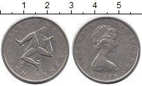 Изображение Монеты Великобритания Остров Мэн 10 пенсов 1976 Медно-никель XF-