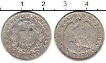 Изображение Монеты Чили 20 сентаво 1879 Серебро XF-