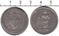 Изображение Монеты Швейцария Вауд 1 франк 1845 Серебро XF