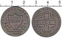 Изображение Монеты Швейцария Вауд 1 батзен 1828 Серебро XF