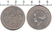 Монета Люксембург 10 франков Серебро 1929 XF фото