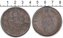 Изображение Монеты Перу 8 риалов 1836 Серебро VF