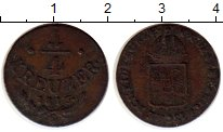 Изображение Монеты Австрия 1/4 крейцера 1816 Медь XF-
