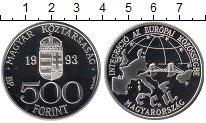 Монета Венгрия 500 форинтов Серебро 1993 Proof фото