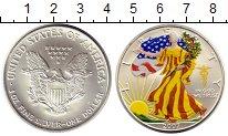 Изображение Монеты США 1 доллар 2007 Серебро UNC