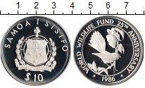 Изображение Монеты Самоа и Сисифо1 10 долларов 1986 Серебро Proof