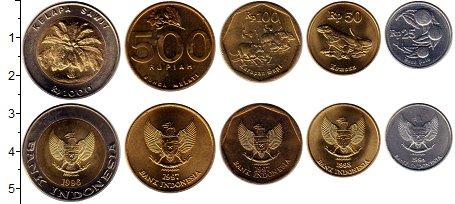Изображение Наборы монет Индонезия набор монет 1994  UNC В наборе 5 монет ном