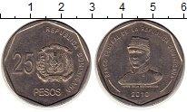 Изображение Монеты Доминиканская республика 25 песо 2010 Медно-никель XF