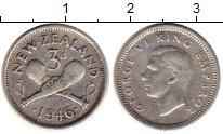 Изображение Монеты Новая Зеландия 3 пенса 1946 Серебро XF