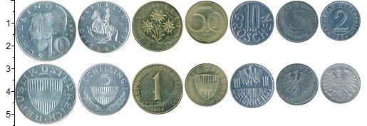 Изображение Наборы монет Австрия Набор 1964 года 1964  XF В наборе 7 монет ном
